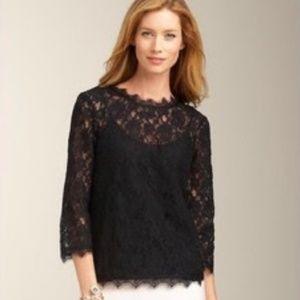 TALBOTS black lace top EXCELLENT